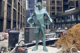 voxeljet的3D打印青铜雕像。
