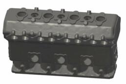 发动机缸体的CAD数据