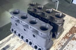 原厂电机与铸件的比较