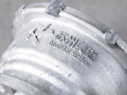 来自voxeljet的3D打印电机外壳,细节精细。
