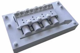 来自voxeljet的3D打印PMMA发动机模型。