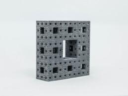 由voxeljet的PP制成的3D打印矩形。