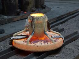 三维铸造模具的铸造