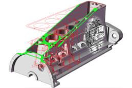 voxeljet的Serch气缸的3D精密铸造模具。