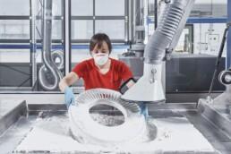 3D Polymer Bauteile entpacken
